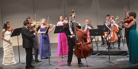 "Bassist Xavier Foley starred in Sphinx Virtuosi's performance of  John B Hedges's ""Raise Hymn, Praise Shout"" at Portland State University."