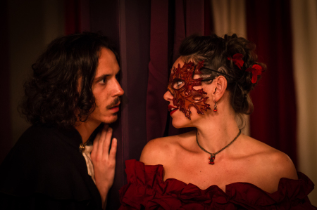 "Kerrigan and Thompson in ""Masque of the Red Death."" Photo: Gary Norman."