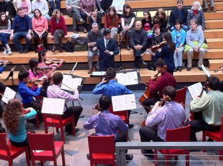 Camerata PYP performs at Wieden+Kennedy Sunday afternoon