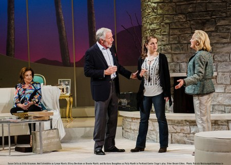 "Family that negotiates together: Silda, Lyman, Brooke and Polly in ""Other Desert Cities.""/Patrick Weishampel/blankeye.tv"