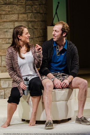 "D'Arcy Dersham and Joel Reuben Ganz in Portland Center Stage's ""Other Desert Cities.""/Patrick Weishampel/blankeye.tv"