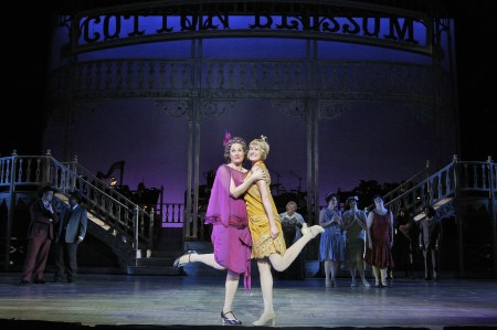 Susannah Mars as Parthy cuts a rug with her grandaughter Kim, all grown up, played by Katrina Galka. Photo: Cory Weaver