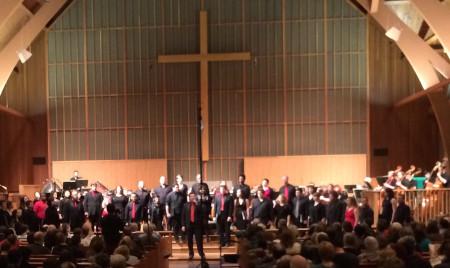 PSU Chamber Choir performed music of Samuel Barber.