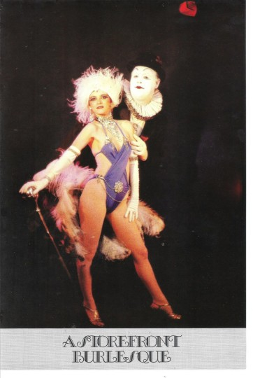 Poster for Storefront's original burlesque. Courtesy Don Horn