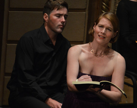 Oliver Mercer (Evangelist) and Erica Brookhyser in Astoria's St. John Passion. Photo Dwight Caswell.