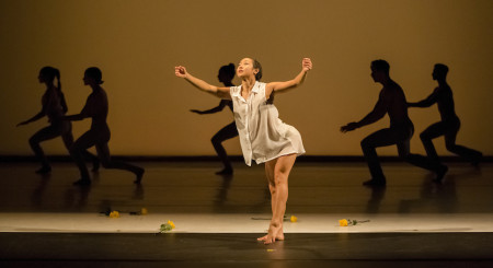"""NW Dance Project dancer Ching Ching Wong and company in the world premiere of Lucas Crandall's """"Preludes 1-6""""/Blaine Truitt Covert"""