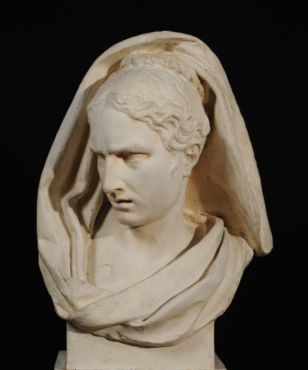 François Rude, Attention Mingled with Fear, 1812, Plaster, 26 1/8 x 15 9/16 x 12 1/4 in., École des Beaux-Arts, Paris (TES 5), Courtesy American Federation of Arts