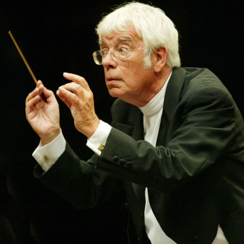 Rilling conducting the St. John Passion on July 9.