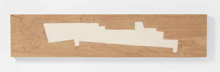 "Judy Cooke, Form, 2015, oil and wax on wood 7"" x 32"" x 2""/Elizabeth Leach Gallery"