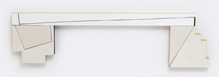 """Judy Cook, Ledge, 2014, oil, acrylic and wax on wood, 18"""" x 65"""" x 2""""/Elizabeth Leach Gallery"""
