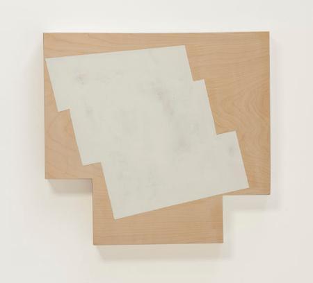"Judy Cooke, Step-down, 2014, oil and wax on wood 13"" x 14"" x 2""/Elizabeth Leach Gallery"