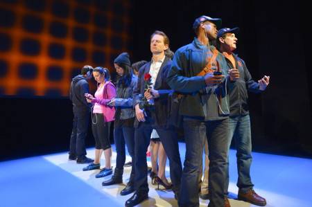 The cast of Caryl Churchill's internationally acclaimed work, Love and Information. Photo by Kevin Berne.