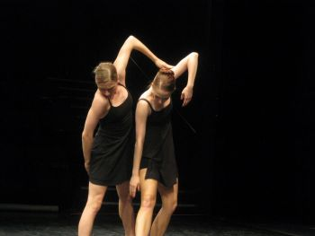"#instaballet Dancers Suzanne Haag and Beth Ann Maslinoff take a moment to ""mark"" a movement to muscle memory."