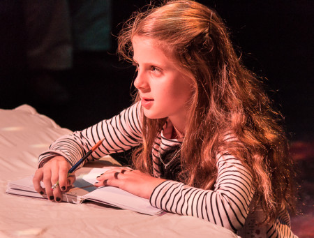 "Haley Snow (Agatha Olson), a girl with big questions in ""Dear Galileo."" Photo: Steve Patterson"