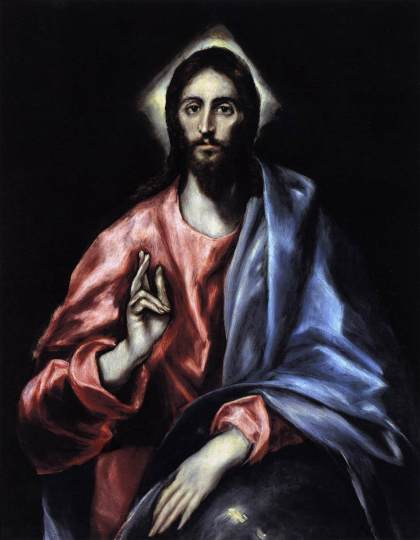 "El Greco, ""The Saviour,"" c. 1612, oil on canvas, 38.2 x 30.3 inches, Museo del Greco, Toledo, Spain."