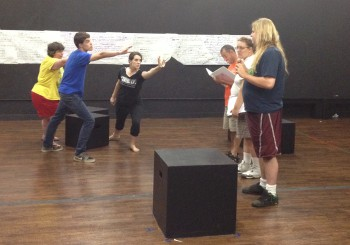 """Members of PHAME Academy rehearse for """"Up the Fall."""""""