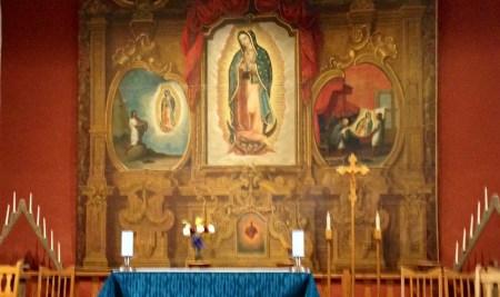 José de Alzibar altar painting, Santuario de Guadalupe.
