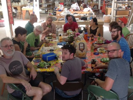 Brown bag lunching at the Ash Street Project. Photo: Joanna Bloom