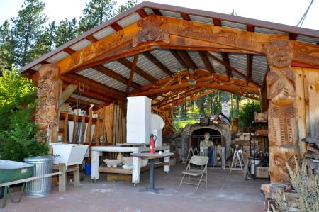 The impressive 18' long Toadagama kiln at the LH Project in Joseph, Oregon.