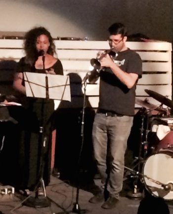 Andrews and Detrick perform at Tale in the Telling's show in Portland.