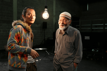 Akio Suzuki & Aki Onda perform at PICA's Time Based Art Festival Monday. Photo: Goran Vejvoda.
