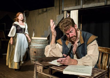 """Rebecca Ridenour and Keith Cable in Post5's """"Equivocation."""" Photo: Russell J Young"""