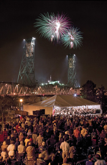 Music and fireworks will light up Portland's Tom McCall Waterfront Park Thursday.
