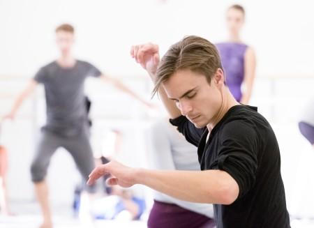 """Peter Franc in rehearsal for """"Sub Rosa."""" Photo: Blaine Truitt Covert"""