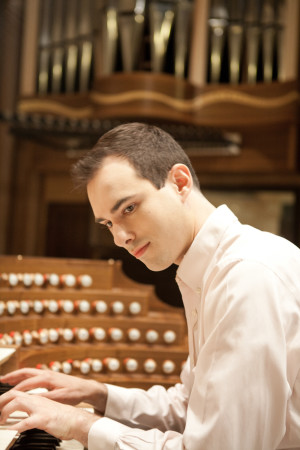 Christopher Houlihan performs at Trinity Cathedral.