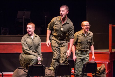 Ryan Monaghan, Max Artsis, Danny Walker in Dogfight at Staged! Photo: David Kinder