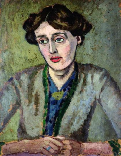 Portrait of Virginia Woolf, by Roger Fry, ca. 1917. Leeds Museum and Galleries/Wikimedia Commons