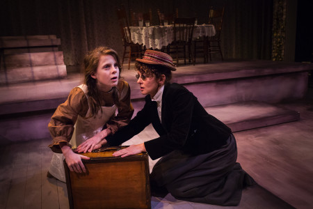 "Olson and Landrum in ""The Miracle Worker,"" two sides of a coin. Photo: Owen Carey"