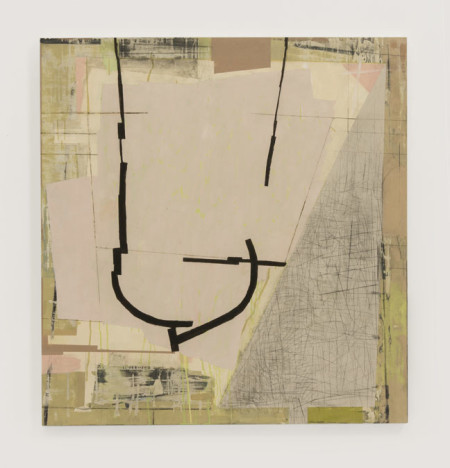 Judy Cooke, Nostalgia, 2014 (oil, pencil and wax on wood, 36″ x 34″ x 2″)/Elizabeth Leach Gallery