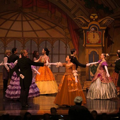 Loren Kessler dances downstage in the Eugene Ballet's 'The Nutcracker./Photo courtesy of Loren Kessler