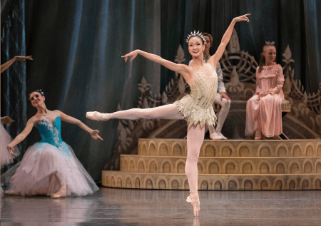"Xuan Cheng as Dewdrop in Oregon Ballet Theatre's production of George Balanchine's ""The Nutcracker."" It continues through Saturday at Keller Auditorium."