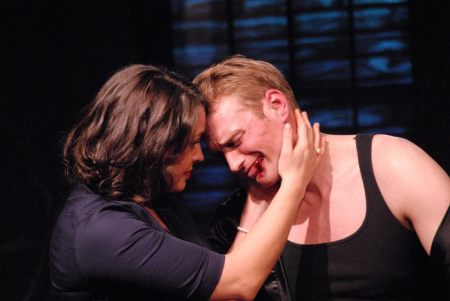 Tabitha Trosen and Ty Boice: cruising for a bruising. Lakewood Theatre photo.