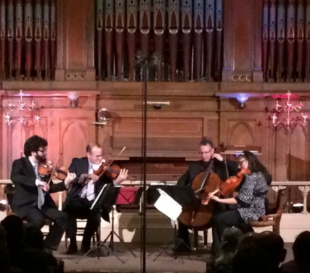 The Dali Quartet performed at Portland's Old Church concert hall.