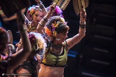 Portland Bellydance Guild and Gypsy Heart Tribal at Groovin' Greenhouse. Photo: Casey Campbell
