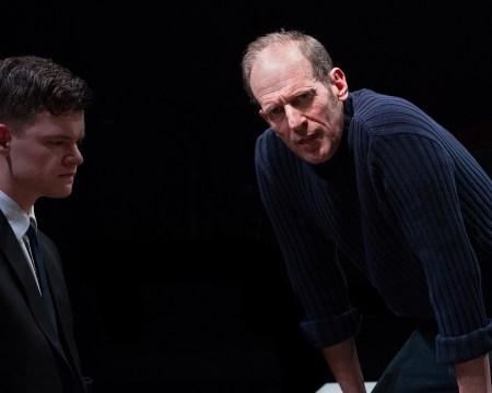 Monkey see, monkey do: Orr and Epstein as student and teacher. Photo: Gary Norman
