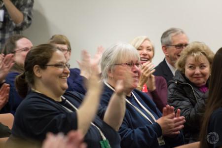 inmates applauding close