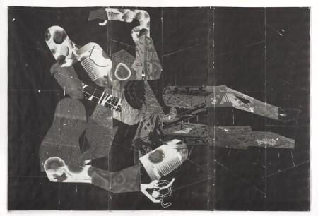 Robert Hardgrave, Castleford, Toner transfer on Tyvek, 2015, 72 x 108 inches