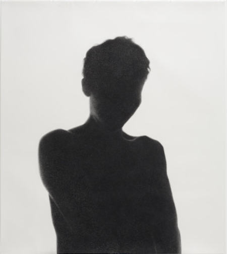 Samantha Wall, Flayed, 2011, Conté crayon, charcoal, and graphite on paper, 84 x 72 inches