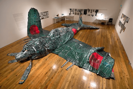 Katsushige Nakahashi's Zero Project at Cooley Gallery, Reed College/Photo by Evan LaLonde