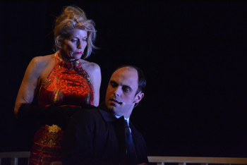 Jeannie Rogers, Matthew DiBiasio in Imago's 'Lady Aoi.' Photo: Kyle Delamarter.