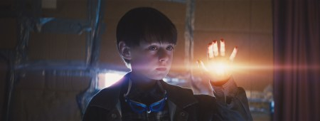 "Jaeden Lieberher says hello in a scene from ""Midnight Special."""