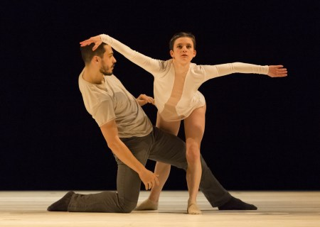 """Elijah Labay and Andrea Parson in Alex Soares's """"Trace in Loss."""" Photo: Blaine Truitt Covert"""
