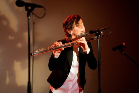Third Angle New Music brought flutist Claire Chase to Portland. Photo: Jacob Wade.