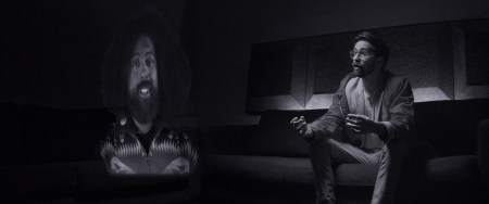 "Reggie Watts and Benjamin Dickinson in ""Creative Control."""