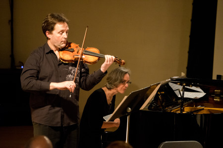 Blessinger and Smith played Feldman. Photo; Jacob Wade.