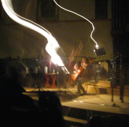 Members of Delgani Quartet performed at Perceptions of Sound. Photo: Gary Ferrington.